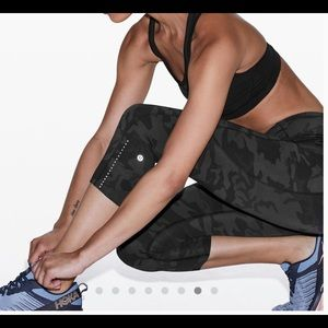 "Lululemon Fast and Free Crop 19"" Reflective"